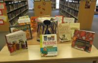 A display of some of the canning materials and books on canning