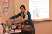 UW-Extension Staff conducting a canning meat and poultry program at the Library.